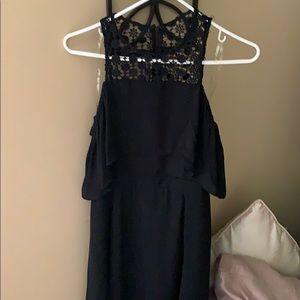 Francesca's black crocheted top dress.